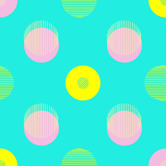 Circle pattern. Repeating dots round abstract background for wall paper. Flat minimalistic design.