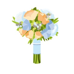 Wedding bouquet vector
