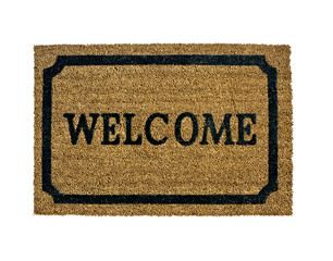 new welcome doormat isolated