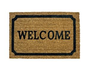 new welcome doormat isolated