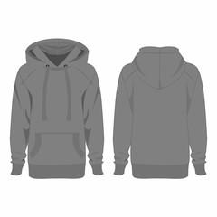 Grey hoodie isolated vector