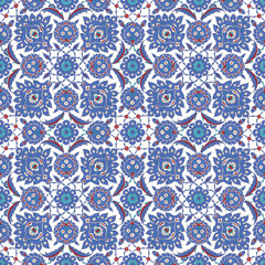 Floral pattern for your design. Traditional Arabic seamless ornament.  Iznik. Vector. Background.