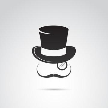 Gentleman icon vector,