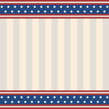 Blue and red USA stars and stripes page border