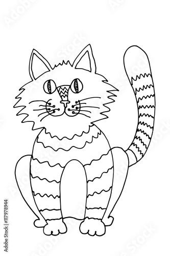 Lustige Katze Zum Ausmalen Stockfotos Und Lizenzfreie Bilder Auf