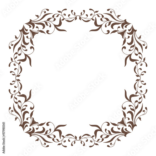 900b32d725e8 Decorative square frame vintage style for greeting