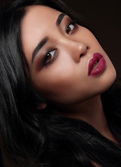 Portrait of  asian model.