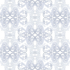 Vintage Baroque ornament pattern. Vector Luxury damask decor. Royal Victorian texture for wallpapers, textile, fabric. serenity blue color