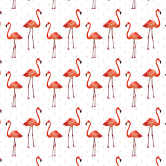 Canvas Prints Flamingo Flamingo birds pattern Vector