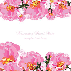 Delicate Pink Roses bouquet card. Vector rose flower for background greeting cards and invitations of the wedding, birthday, Valentine's Day, Mother's Day