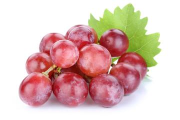 Trauben Weintrauben rot Früchte Frucht Obst Freisteller freiges
