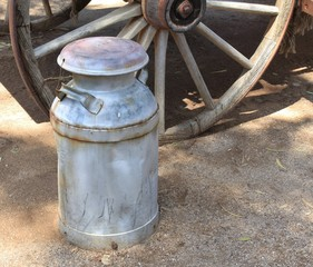 Old Time Milk Container