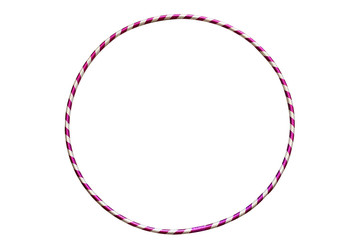 The hula Hoop silver with purple isolated on white background. Gymnastics, fitness,diet.