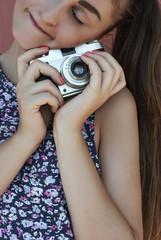 Girl loves her camera