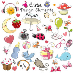 Cute design elements