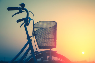 Vintage bike trails in summer tones style.classic vintage style