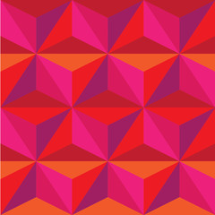 pattern of red and pink stars of the triangle