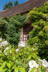 Typically picturesque 16th century French farmhouse in romantic