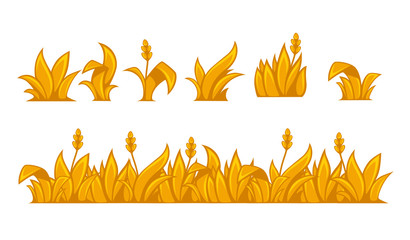 Ears of wheat horizontal border pattern.