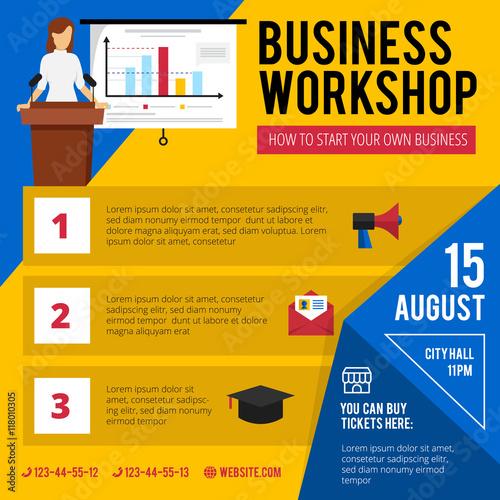 u0026quot business training workshop announcement poster u0026quot  stock