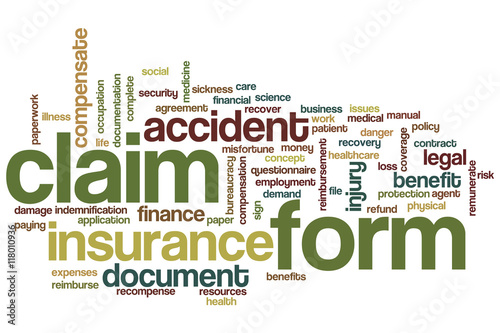 Claim Form Word Cloud Stock Photo And RoyaltyFree Images On