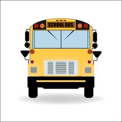 Yellow School Bus Vector  Illustration