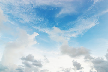 Blue sky with white pattern of cloud