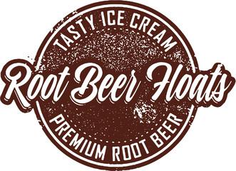 Vintage Root Beer Floats Dessert Sign
