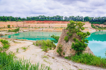 Grand canyon in Chiang Mai, Thailand, Reservoir from old soil mi