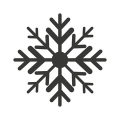 snowflake winter isolated icon
