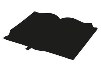 Vector sketch. Open book