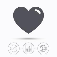 Heart icon. Romantic love sign.