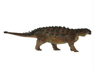 Pinacosaurus Dinosaur Side Profile - Pinacosaurus was a herbivorous Ankylosaurus that lived in the Cretaceous Period of Mongolia and China.