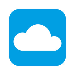 cloud computing isolated icon