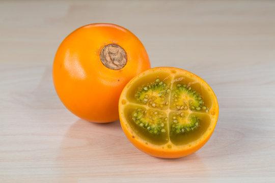 Lulo tasty tropical fruit
