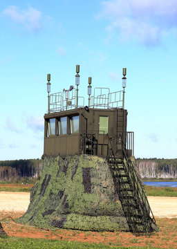 Army command and observation post