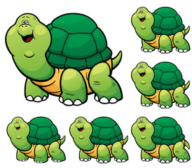 Vector Illustration of make the choice matching - Turtle