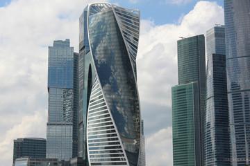 Фрагмент высоток делового финансово-офисного центра Москва-Сити