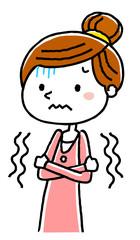 若い女性:寒気