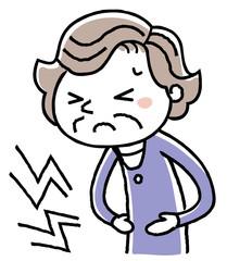 シニア女性:腹痛