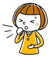 女の子:咳