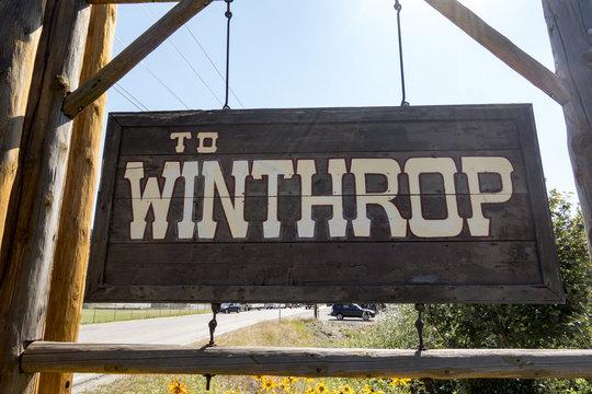 Winthrop, Washington Entrance Traffic Sign