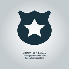 Vector police sign icon
