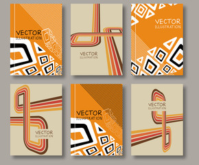 Abstract ethnic pattern line textures.