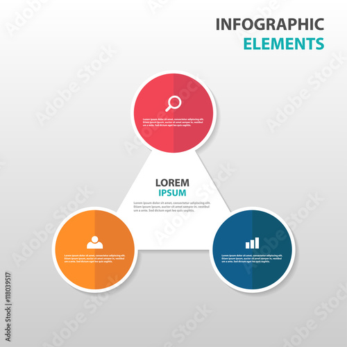 Abstract Triangle Circle Business Infographics Elements