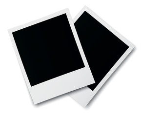 Realistic old photo frames isolated on white background.