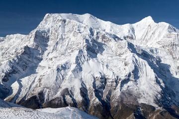 Fototapete - North face of Annapurna II and Annapurna IV, Annapurna Circuit, Manang, Nepal
