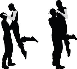 a couple silhouette