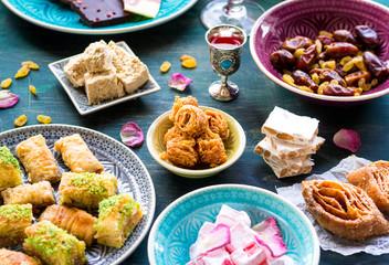 Assorted eastern desserts