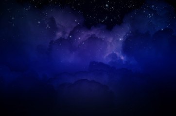 Night Sky with Stars and Clouds